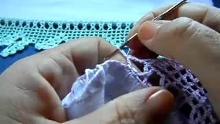 Bico em crochê com borboleta – vídeo 02/02