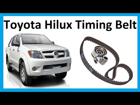 How to change the timing belt on Toyota Hilux Mk6 / Vigo 3.0L D4D