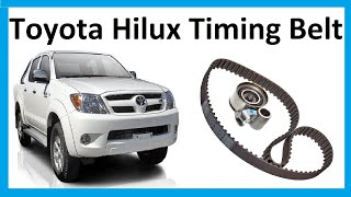 vuclip How to change the timing belt on Toyota Hilux Mk6 / Vigo 3.0L D4D