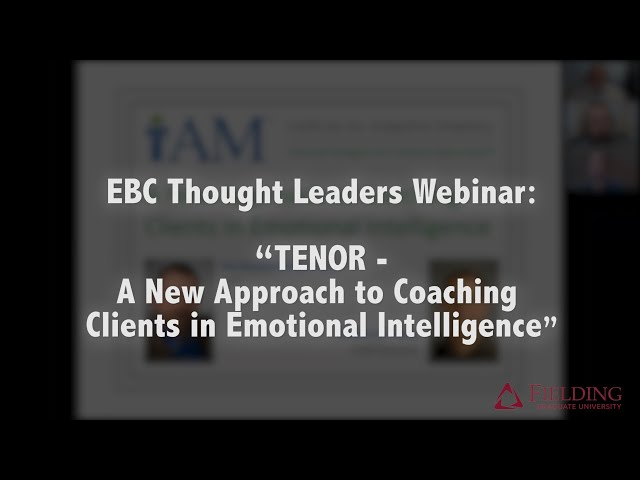 TENOR - A New Approach to #Coaching Clients in Emotional Intelligence