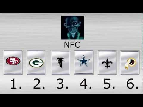 (PRE-SEASON) 2012-13 NFL Playoff, Superbowl, MVP Predictions