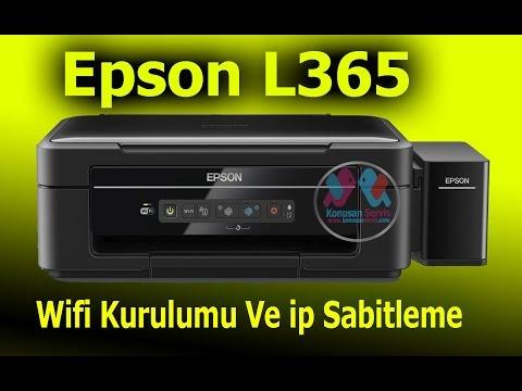 Epson L365 Wifi Kurulumu Ve Ip Sabitleme Nasıl Yapılır