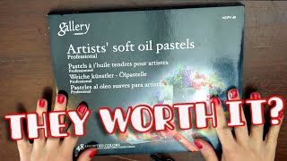 OIL PASTELS REVIEW - Mungyo Gallery Artists set of 48...drawing clouds screenshot 4