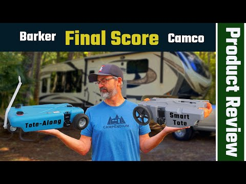 Barker Tote-Along vs Camco Rhino Tote Tank Waste Tote Review  (RV Living Full Time)4K