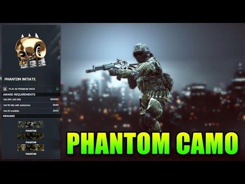 BF4 Phantom Initiate Camo How To Unlock The Fastest | Battlefield 4 Dragon's Teeth DLC