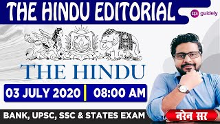 The Hindu Editorial Grammar and Vocabulary by Naren Sir | 03 July 2020 - Guidely