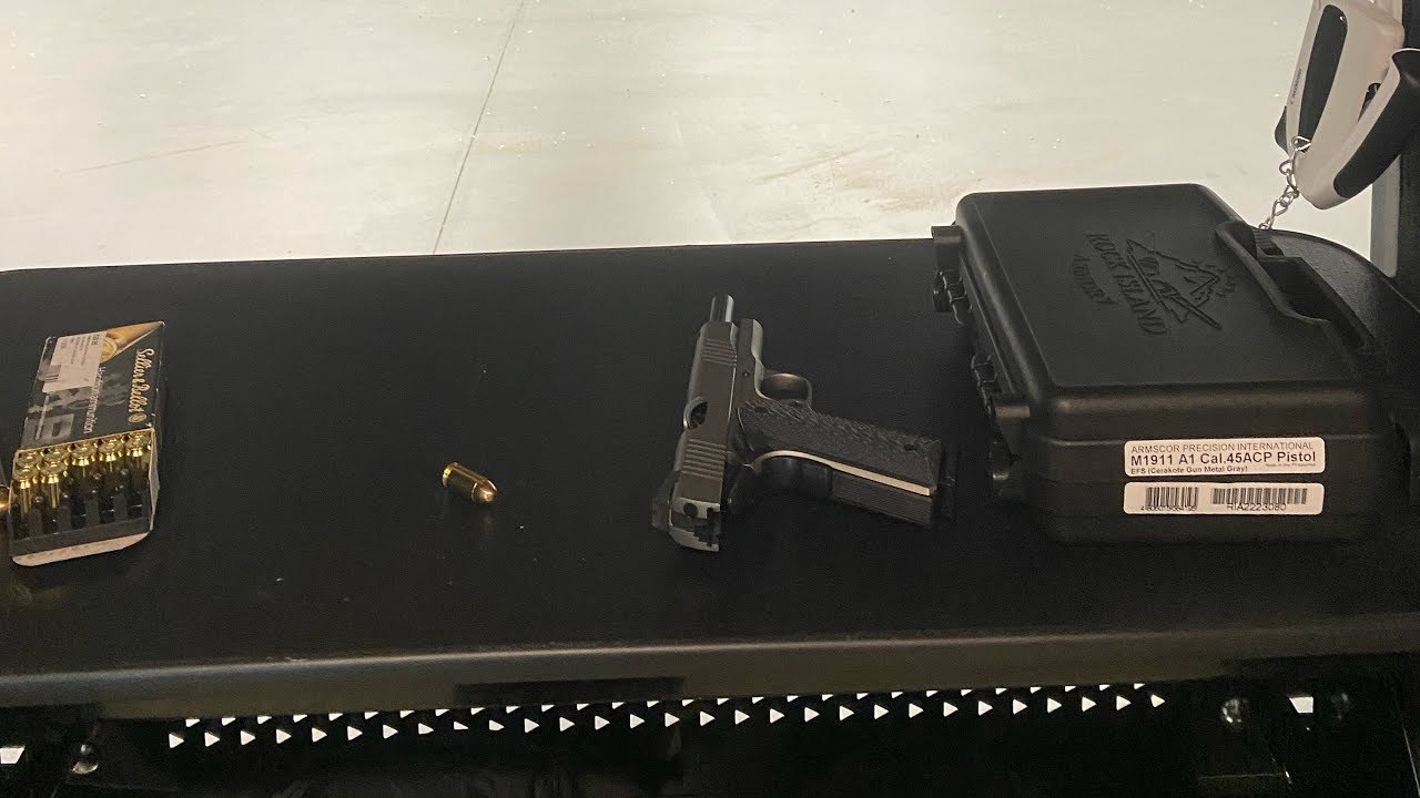 Range Day with RIA 45 acp 1911 first shots!