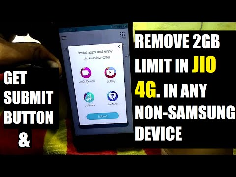 'JIO 4G' 2GB Limit to Unlimited in any Non-Samsung devices