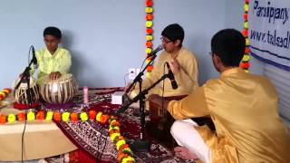 Nandan Shastry - Raag Bageshri Vilambit with Neil Khare and Srikar