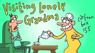 Visiting Lonely Grandma | Cartoon Box 155 | By FRAME ORDER