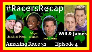 Amazing Race Season 32 Episode 4 With Will And James #RacersRecap