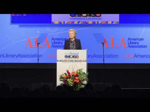 2017 ALA Annual Conference - Hillary Rodham Clinton On Librarians Making A Difference