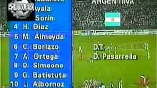 Venezuela 2 vs Argentina 5 Eliminatorias Francia 98  FUTBOL RETRO TV