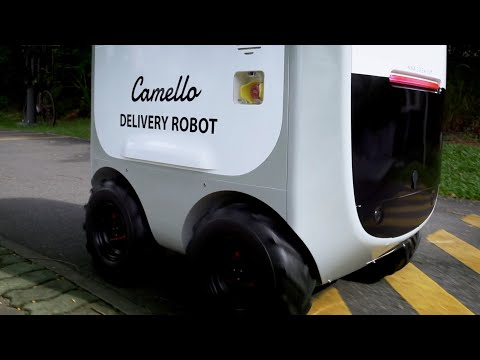 Robot 'courier' for on demand delivery being trialed in Singapore