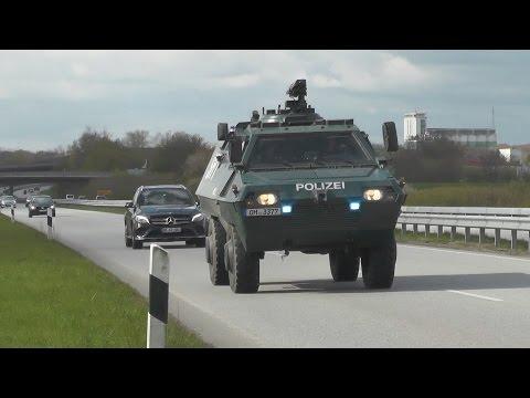 Anti-Terror Übung in Kiel - Einsatzfahrten