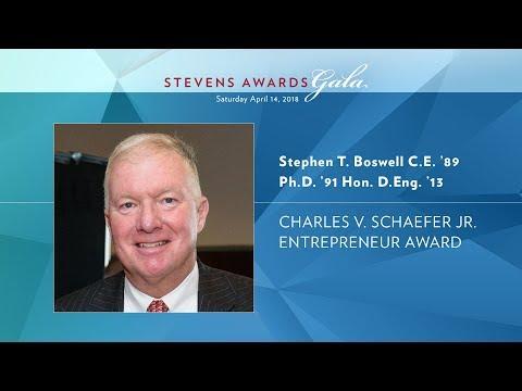 2018 Charles V. Schaefer Jr. Entrepreneurship Award - Stephen T. Boswell