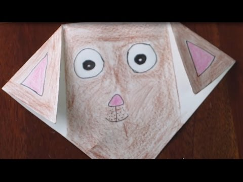 How To Make Draw Color A Paper Puppy Face