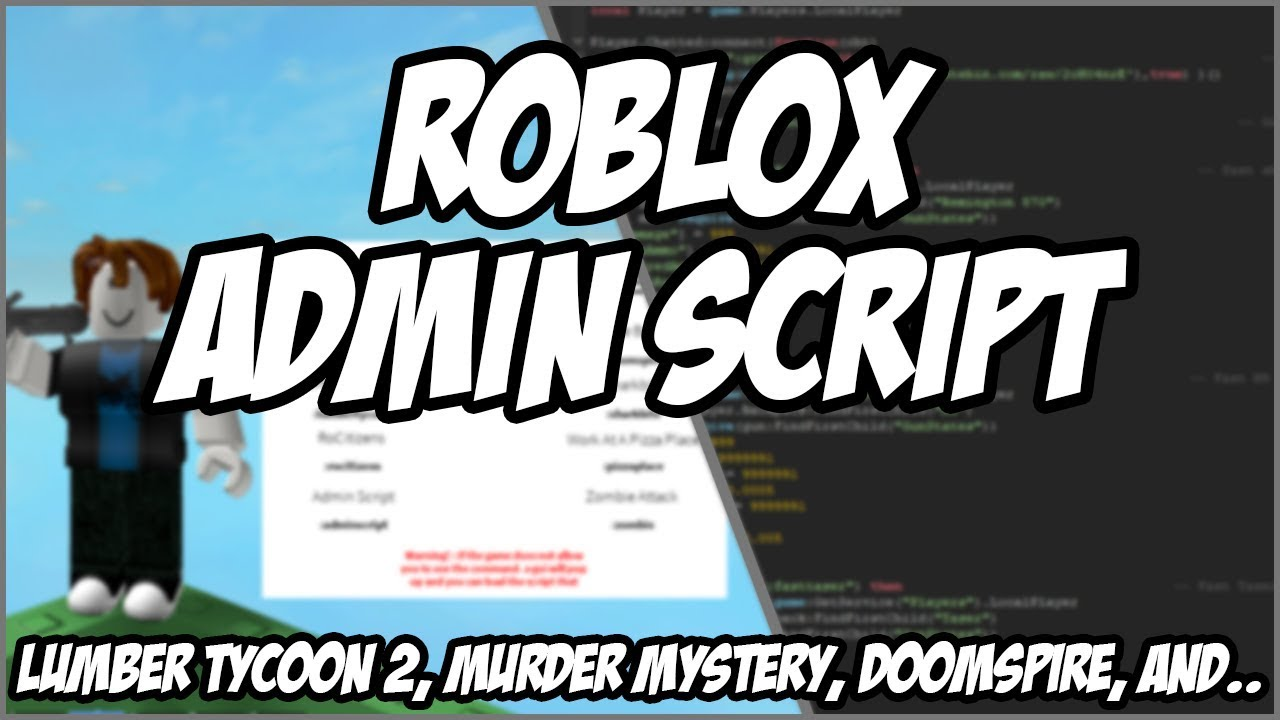 Roblox Admin Scripts For Free