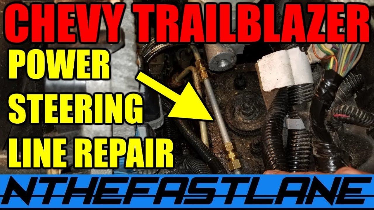 hight resolution of trailblazer power steering line repair