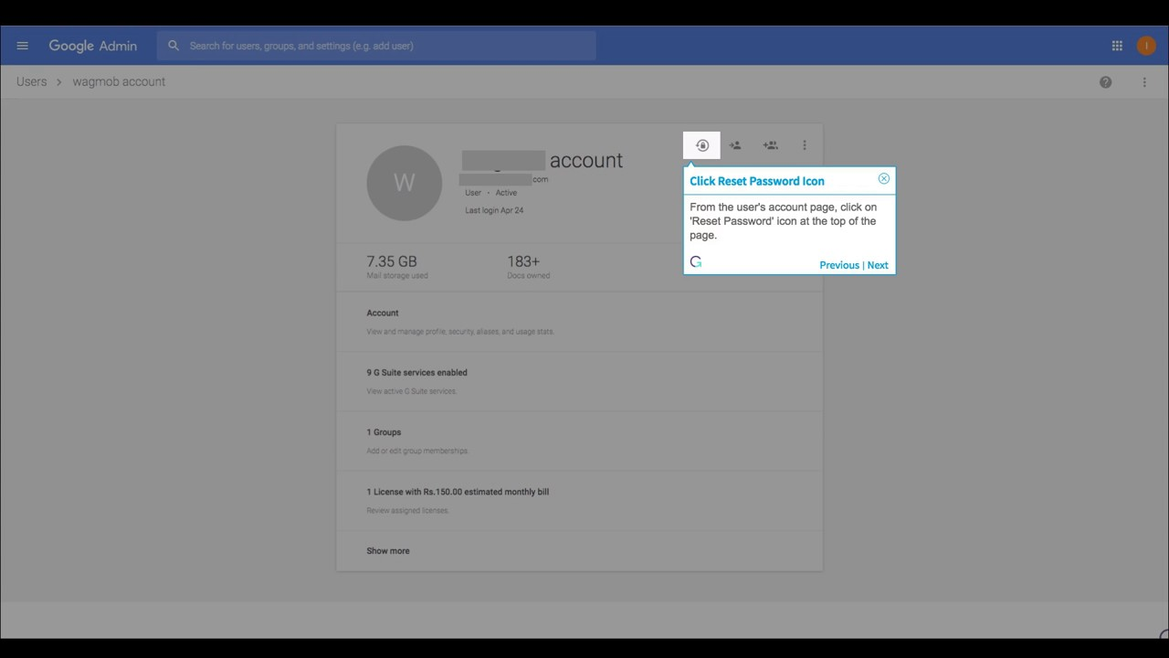 How to Reset a User's Password via Google Admin Console