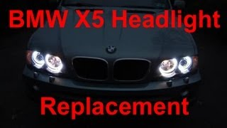 how to replace bmw x5 headlight bulbs
