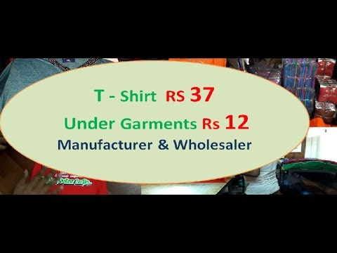 T shirt manufacturer and export surplus in Kolkata - YouTube