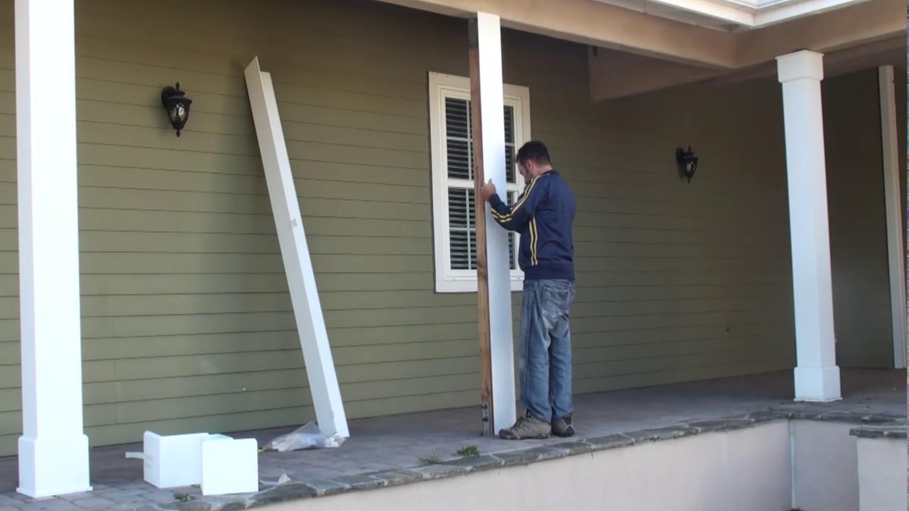 DYI How to install patio PVC column wraps  FYPON  YouTube