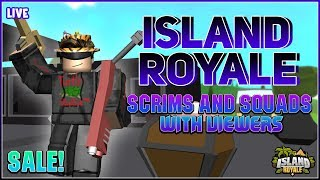 🔴[Live] ROBLOX 🌴 Island Royale Custom Scrims and Squads with Viewers! (IR SALE 🔥) [100 Subs! 🎉 ]