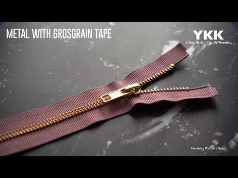 YKK's Metal with Grosgrain Tape Zipper