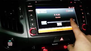 управление музыкой в KIA Sportage 3 на Iphone 5 через B