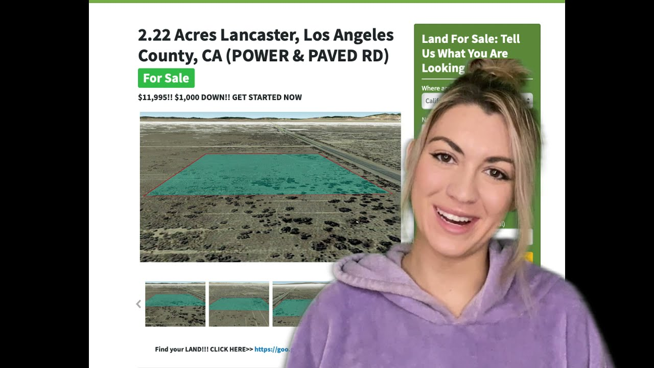 2.22 Acre Lancaster Property(POWER & PAVED RD) in Los Angeles County, CA