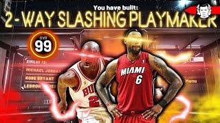 THE BEST TWO WAY SLASHING PLAYMAKER IN NBA 2K20 - 61 BADGE UPGRADES 10 HOF BADGES!