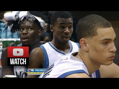 Andrew Wiggins, Anthony Bennett & Zach LaVine Triple Highlights Vs 76ers (2014.10.10) - 39 Pts Total