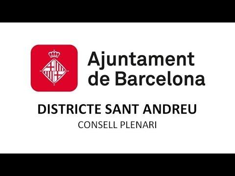 CONSELL PLENARI DISTRICTE SANT ANDREU 8/5/2018
