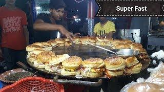 Super Fast Burger Making | Anda Bun Kabab | Amazing Skills at Street Food of Karachi Pakistan