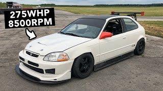 K-Swap K24 Honda Civic Track Review