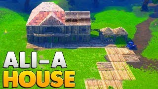 BUILDING ALI-A'S HOUSE WITH ALI-A | Fortnite: Battle Royale