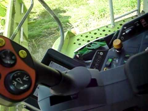Interior of the Claas Lexion 580 Hybrid Combine