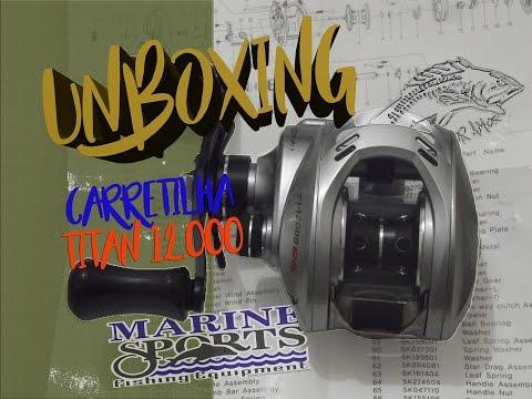 UNBOXING - Carretilha Titan GTO 12.000 ( Marine Sports ) - Pesca Por Amor