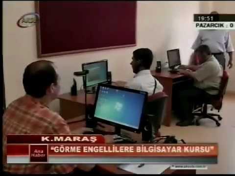 www.iskurhaber.com Kahramanmaraş'ta Görme Engelliler İçin Bilgisayar Kursu