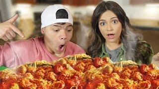 20 POUNDS of SPAGHETTI in 10 MIN! (ft. Bethany Mota)