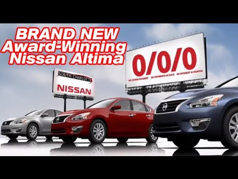 Buy a New Car at 0 Down 0 Payments and 0 Interest at South Charlotte Nissan