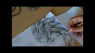 How to draw/Como desenhar - Goku Ssj3 (Dragon Ball)