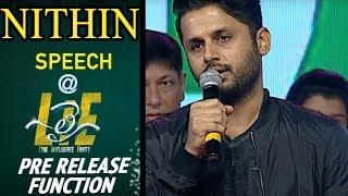 Nithin Emotional Speech at #LIE Movie Pre Release Event - Arjun, Megha Akash | Hanu Raghavapudi