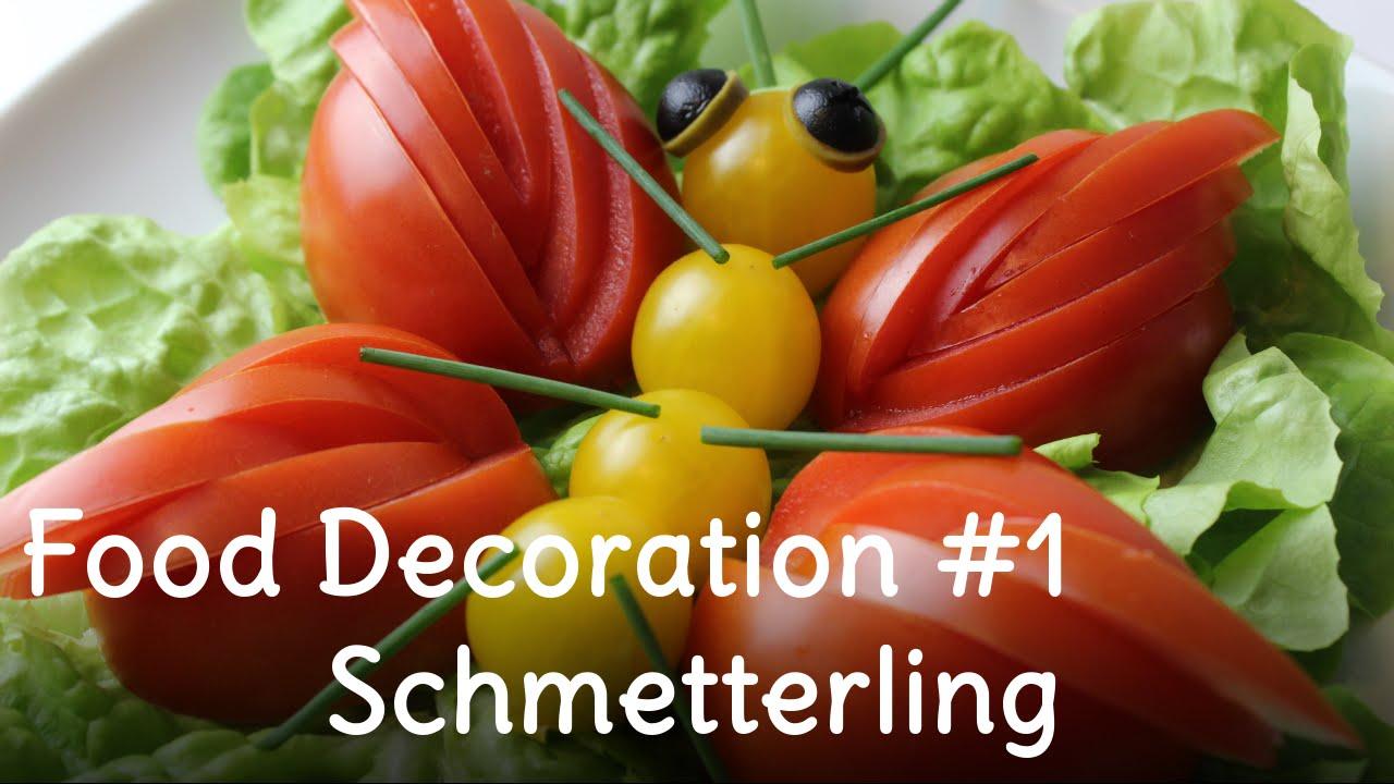 beilagensalat salat dekorieren 1 schmetterling aus tomaten sweetlifesunshine youtube. Black Bedroom Furniture Sets. Home Design Ideas