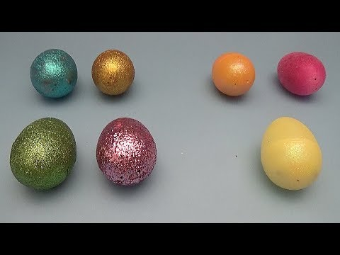Learning Greater Than Less Than And Equal To With Surprise Eggs! Glitter!
