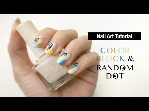 美甲 Color Block & Random Dot Nail Tutorial | Gobby Hong 高比 thumbnail
