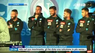 SSC Napoli, la presentazione degli attaccanti con Insigne speaker 'nascosto'