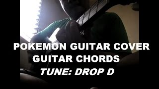 POKEMON Theme / Opening Song (Guitar Cover / Chords)