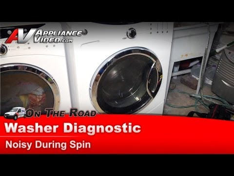 washing machine making loud banging noise on spin cycle